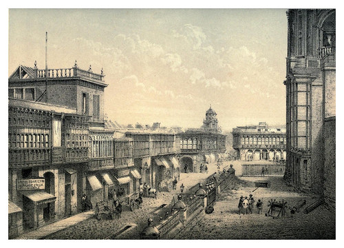 005-Calle de los judios-Lima or Sketches of the capital of Peru-1866- Manuel Atanasio Fuentes Delgado