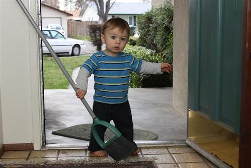 Ethan sweeps 02-05-10