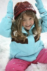 (MissMessie) Tags: pink blue winter snow hat outside play coat enjoy kendall snowsuit iphotoedited