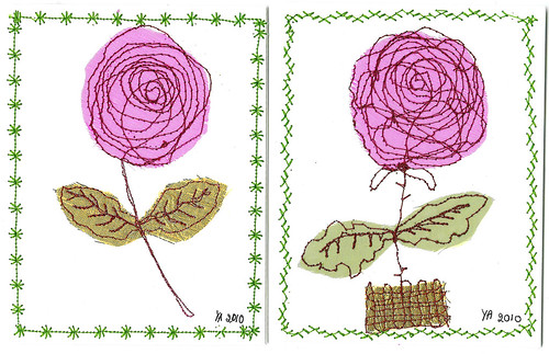 Rose postcards #9 & #10 (Photo by iHanna - Hanna Andersson)