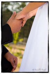 The Promise (Proleshi) Tags: wedding woman man outside groom bride holding hands dress boda ceremony marriage husbandandwife husband naturallight wife holdinghands weddingdress suite valentinesday reflector