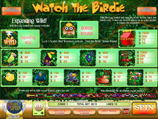 free Watch the Birdie slot mini symbol