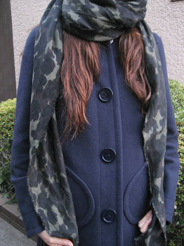 Camouflage skull print scarf from HYSTERIC GLAMOUR