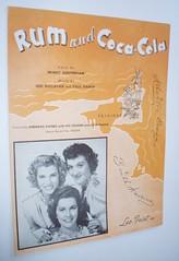 SHEET MUSIC RUM AND COCA COLA ANDREWS SISTERS 1944 (ussiwojima) Tags: advertising cola coke rum sheetmusic rumandcocacola