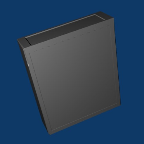 ET Cartridge 3D Model with insets