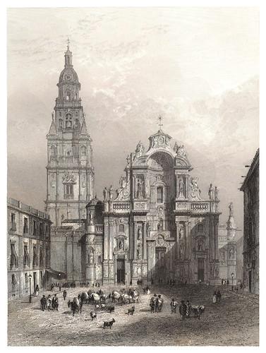 007-Catedral de Murcia-Voyage pittoresque en Espagne et en Portugal 1852- Emile Bégin