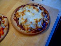 BBQ chicken pizza done