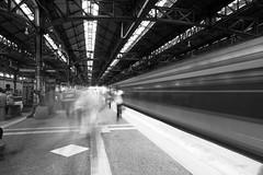 Passing Train at Island Platform - KTM (QooL / بنت شمس الدين) Tags: qool qoolens