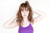 April Fool (laurenlemon) Tags: selfportrait me purple flash curlyhair 2010 wideeyes canoneos5dmarkii laurenrandolph laurenlemon