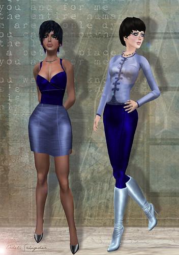 Sassy Sandra & Milly Blue