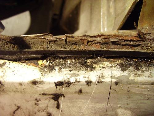 rear wing rust. Citroen CX