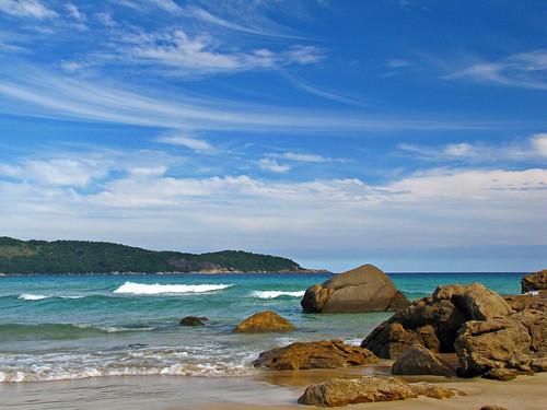 Lopes Mendes  Beach - Ilha Grande • Rio de Janeiro brasil praia  ilha grande paradisiaca agua azul ceu fotografia