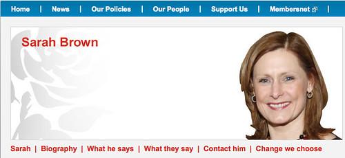 """Sarah Brown's """"website"""""""
