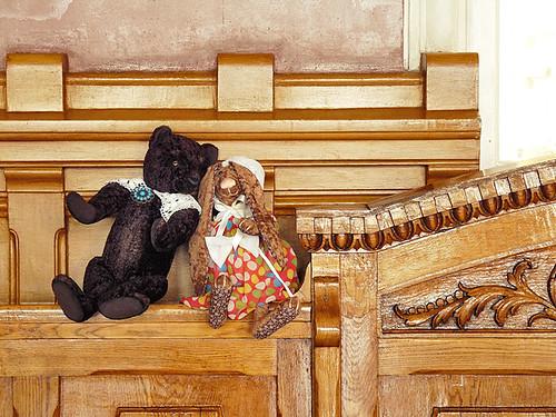 Авторский мишка Тедди и кролик