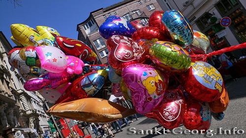 Ballonverkauf, Bunte Lange Reihe, Hamburg St. Georg