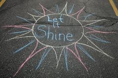 chalk sun shine
