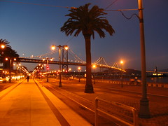 San Francisco in Night (slowpoke_taiwan) Tags: sanfrancisco ca night baybridge embarcadero shinyi
