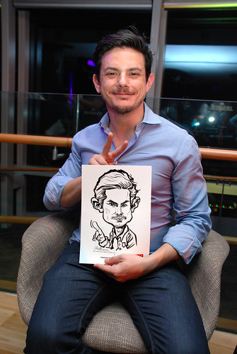 Caricature live sketching for TLC - 23