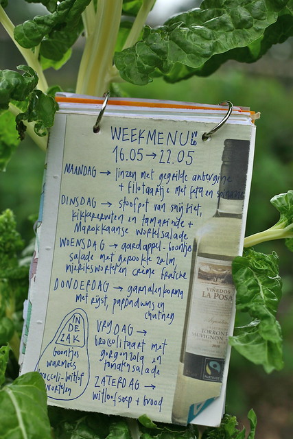 Weekmenu in de snijbiet
