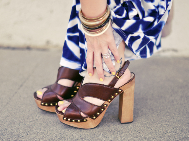 miu miu leather clog platform sandals