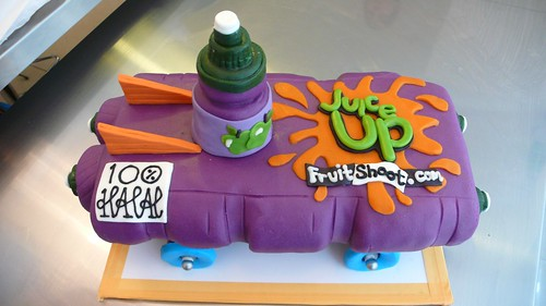 FRUIT SHOOT bottle rocket cake by CAKE Amsterdam - Cakes by ZOBOT