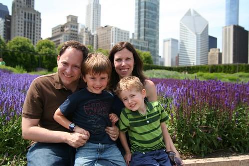 DeRusha Family at Millennium Park