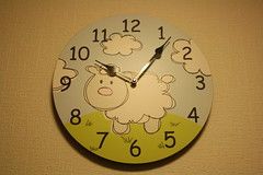 Baaaaad Timing.... (lazy south's travels) Tags: clock me wall project sheep time cartoon piece