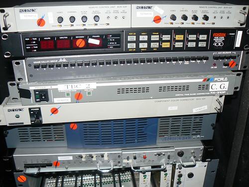 Sony BVR-50P  (2) Fostex Time Code Generator Reader 4010 Sony BVX-10P GVG 200-552 ORAD OSR-10 Soundcraff VSA-24