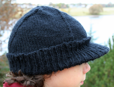 half-pipe hat.