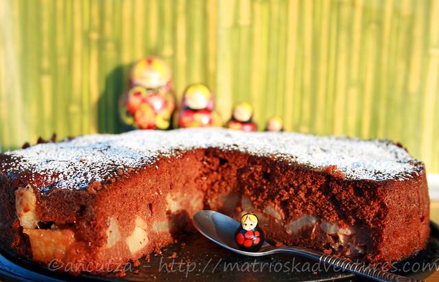 foto immagine Torta al cioccolato e pere