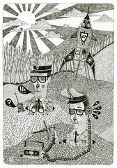 'secret service' groupshow. (pearpicker.) Tags: illustration pencil drawing secret exhibition service rotopol pearpicker benerohlmann