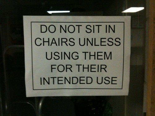 You mean, like, sitting?