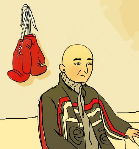Depuis le décès de son père, Christophe a abandonné sa passion, la boxe. Illustration Célia Rivière