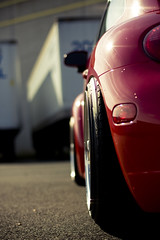 Rear Fitment (J.Owen Photo) Tags: red philadelphia wheel vw air beetle pa turbo phl bbs 2009 newbeetle blown votex canonef50mmf14usm 8v mk4 airride rs178 squatermelon blowneuros masontech jowenphoto