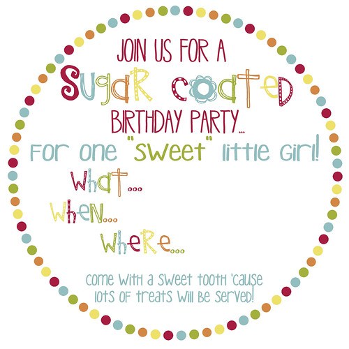 blank birthday candy invite