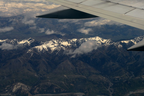 Sunday: Impressive Mountains from the Plane to Wellington
