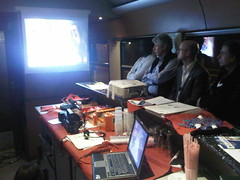Screening in bar carriage of train