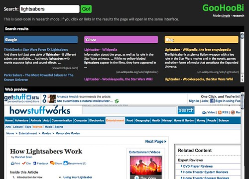 GooHooBi - search Google, Yahoo and Bing in one go!