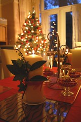 Christmas table (version 1) (Jainbow) Tags: christmas decorations red tree table december candle room ivy dining bayleaf jainbow