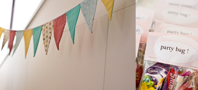 partybags and bunting
