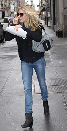 Sienna Miller Gray Handbag Khirma Eliazov