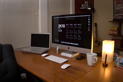 New Workspace Setup (ronicadesign) Tags: work imac desk space setup macs mbp