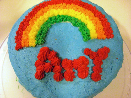 Rainbow Cake - Wilton Course 1 Class 2