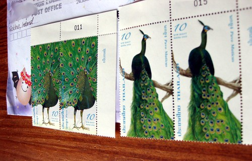 Thai peacock stamps