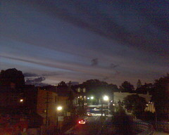 Clouds and sunset over Glebe 1