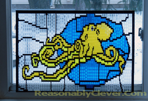 LEGO Octopus Stained Glass
