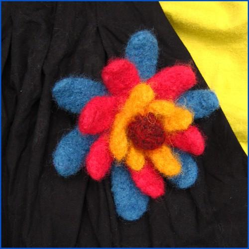 handknit felted brooch