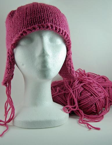 Pink Earflap Hat UFO