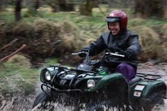 quad biking on a highland estate