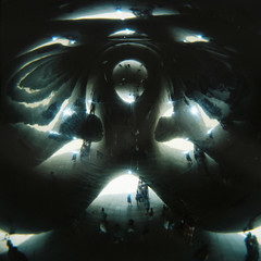 Inside The Bean (Kerrie McSnap) Tags: sculpture chicago color colour art 120 film mediumformat square illinois holga lomo lomography toycamera kodakportra400vc grantpark millenniumpark cloudgate thebean kodakportra
